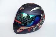 Шлем-интеграл BLD №-878 графит / матт