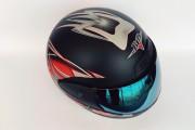 Шлем-интеграл BLD №-829 черный мат / хамелеон