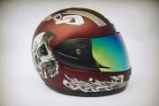 Шлем-интеграл BLD №-829 burgundy skull/хамелеон