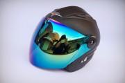 Шлем открытый BLD №-218 Bailide black matt/хамелеон