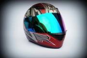 Шлем-интеграл BLD №-666 burgundy/хамелеон