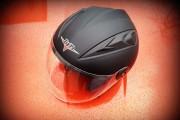 Шлем открытый BLD №-218 Bailide черный мат