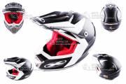Шлем кроссовый X-DRIVE №-435 черный мат
