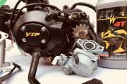 Двигатель+карбюратор Альфа 110 см3 полуавтомат V.I.P JAPAN
