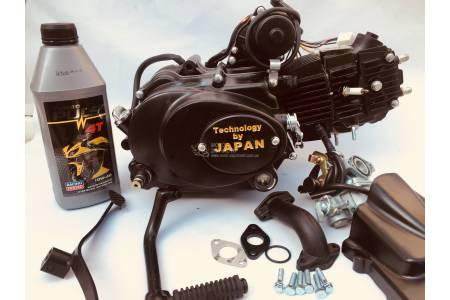 Двигатель+карбюратор Альфа 110 см3 механика V.I.P JAPAN