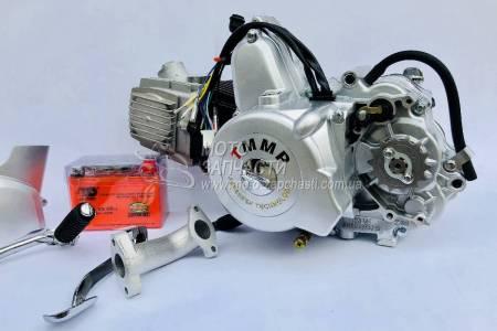 Двигатель Альфа 110 см3 полуавтомат+АКБ GEL  ТММР