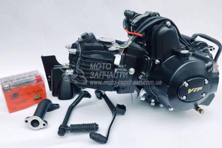 Двигатель Альфа 110 см3 механика+АКБ GEL 2018 VIP Japan