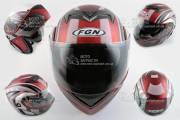 Шлем-трансформер FGN mod:PILOT красный мат