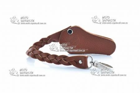 Чехол для ключей с ремешком SUZUKI кожа коричневый