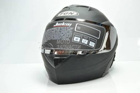 Шлем-трансформер FGN черный / зеркальный визор