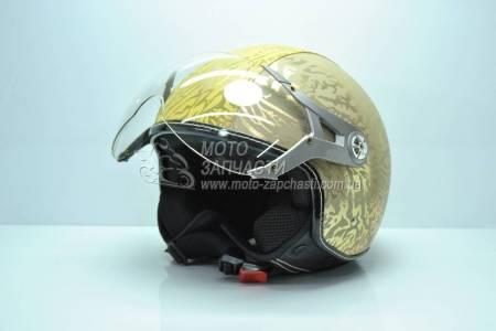 Шлем-полулицевой BLD №-226 PILOT золото