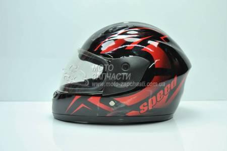 Шлем-интеграл детский F2 SPEED черный