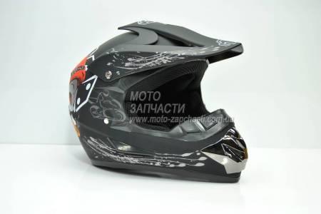 Шлем кроссовый детский MTG JOKER черный мат
