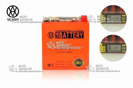 Аккумулятор мото 7A/12V VLAND GEL Мото + вольтметр