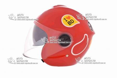 Шлем-полулицевой детский YOHE mod:T69+очки красный