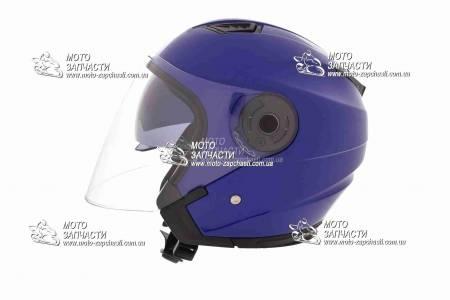 Шлем-полулицевой XYZ mod:516+очки синий