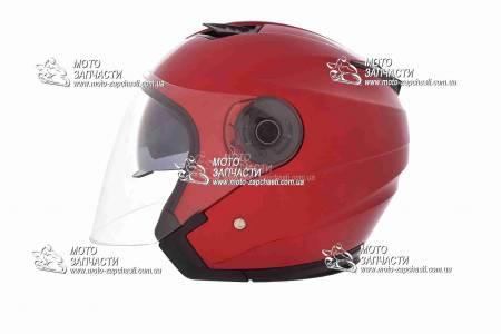 Шлем-полулицевой XYZ mod:516+очки красный
