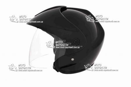 Шлем-полулицевой XYZ mod:832+козырек черный глянец