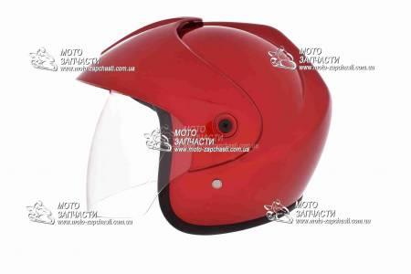 Шлем-полулицевой XYZ mod:832+козырек красный