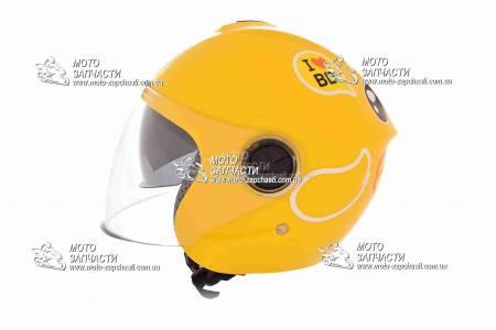 Шлем-полулицевой детский YOHE mod:T69+очки желтый
