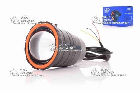 Фара-линза дополнительная LED 1 диод XH черная