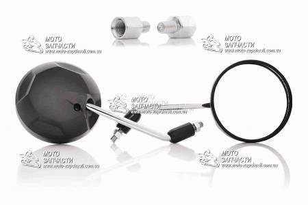 Зеркала круглые CHAMPIONS QX1237 черные