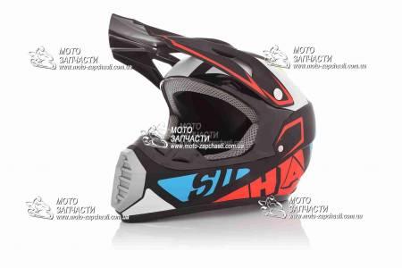 Шлем кроссовый FOX №126 черный матт