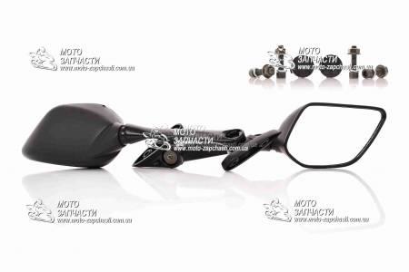 Зеркала мото Viper ZS200 пятиугольные XH черные