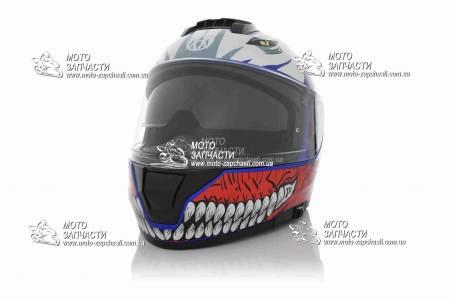 Шлем интеграл VLAND M63+очки синий