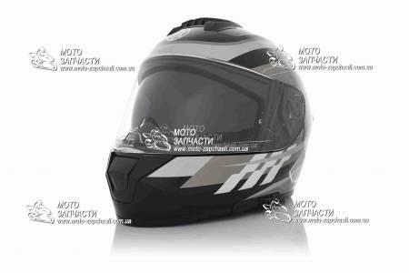 Шлем-интеграл VLAND M63+очки черно-серый