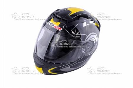Шлем-интеграл LS2 FF352 ROOKIE ATMOS черно-желтый