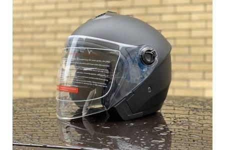 Шлем- полулицевой с очками F2 mod: 707 BLACK
