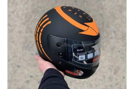 Шлем-интеграл BLD/F2 №-825 хищник черно-оранжевый матовый