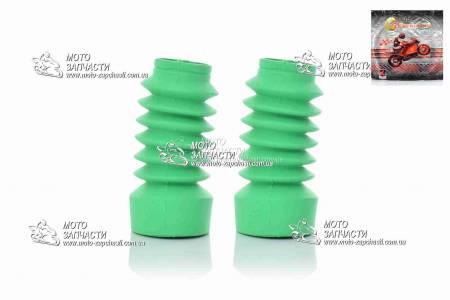 Гофры вилки Yamaha JOG disk F6 зеленые