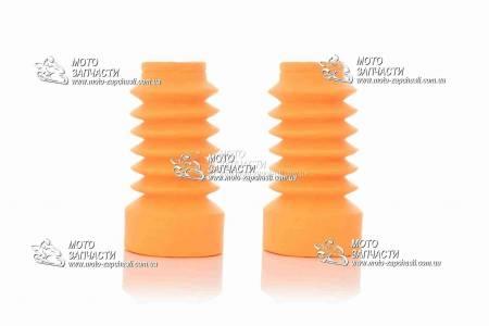 Гофры вилки Yamaha JOG disk XH оранжевые