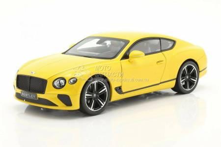 1/18 модель Bentley Continental GTC 2018 Monaco Yellow NOREV