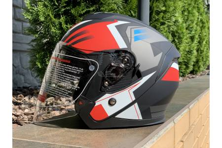 Шлем-полулицевой FGN mod:703+очки MultiColor Matt