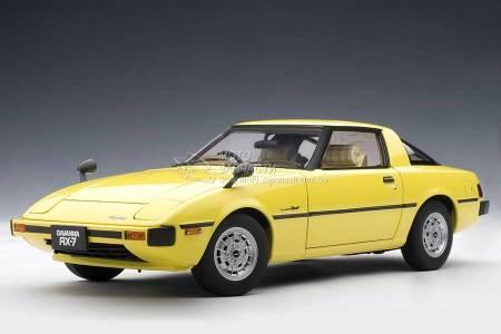 1/18 модель Mazda Savanna RX-7 (SA) 1978 Spark Yellow AUTOart