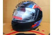 Шлем-итеграл BLD №825 красный мат