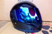 Шлем-интеграл BLD №825  черный глянец