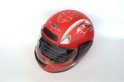 Шлем-интеграл BLD №-829 красный мат